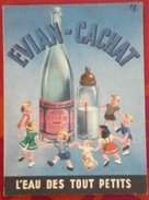"""Dépliant 6 Pages Evian Cachat """"L'Eau Des Touts Petits' Année 50-60 - Reclame"""