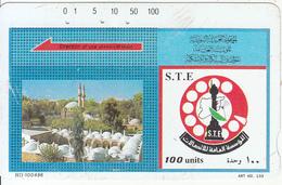 SYRIA(Tamura) - Khaled Ben Alwaleed Mosque, Art No 133, S.T.E. Telecard 100 Units(HII-100496, Black Reverse-3), Used