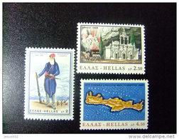 GRECIA GRÈCE 1966 CENTENAIRE De L`INSURRECTION CRÉTOISE Yvert N 884 / 886 ** MNH