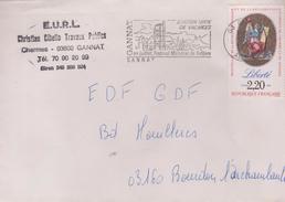 2,20f Liberté : De Gannat à EDF Bourbon - Marcophilie (Lettres)