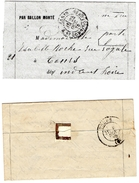 """BALLON MONTE """"LE VAUBAN"""" - 1870 Siege Of Paris"""