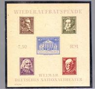 GERMANIA DEUTSCHLAND SBZ ZONA SOVIETICA THURINGENBLOCK  1945 WEIMARER THEATHERBLOCK PAAR 3A3B  MNH**