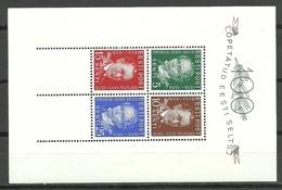 Estland Estonia 1938 Block Michel 2 MNH - Estonie