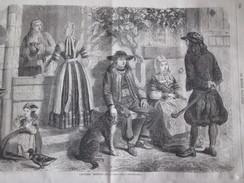 GRAVURE 1867. COSTUMES BRETONS.  D Après Nature  En Basse BRETAGNE Douarnenez Brest Lannion Rennes  Vannes - Non Classés
