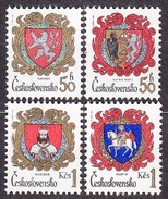 CZECHOSLOVAKIA 1984, Complete Set, MNH. Michel 2754-2757. CITIES - COAT OF ARMS. Good Condition, See The Scans