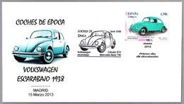 Coche VOLKSWAGEN ESCARABAJO 1938 - Car VOLKSWAGEN BEETLE. SPD/FDC Madrid 2013