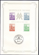 GERMANIA DEUTSCHLAND SBZ ZONA SOVIETICA 1946 WESTSACHSENBLOCK  PAAR FIERA DI  LIPSIA   COPPIA  MNH**