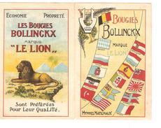 Folder Publicitaire Firme 'Le Lion' Devenu Delhaize Les Bougies Bollinckx Verso La Partition De La Brabançonne PR3970 - Advertising