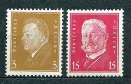 Deutsches Reich 1928, MiNr 410 + 414 (from Set 410-422); MNH **