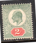 1902 2 Pence MH Very Fine, No Toning, Very Fresh  (e154)