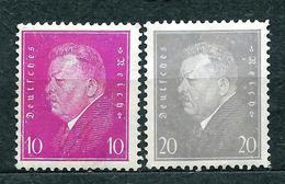 Deutsches Reich 1930, MiNr 435-436 (from Set 435-437); MH *