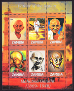 Father Of The Nation, Mahatma Gandhi - Zambia 2016 // MNH**
