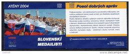 SLOVAKIA 2004 Olympic Medal Winners Self-adhesive Booklet, MNH / **.  Michel 497-502, MH 0-51 - Slovakia