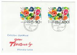 Suisse // Schweiz // Switzerland // 1988  // Jean Tinguely, Emission Commune Suisse-France