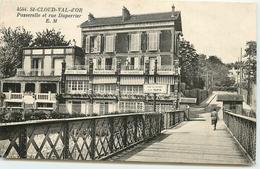 DEP 92 SAINT CLOUD VAL D'OR PASSERELLE ET RUE DUPERRIER - Saint Cloud