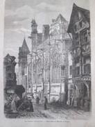 GRAVURE 1867. Saint Jean Du Marché TROYES - Troyes