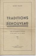 """63 - AUVERGNE - PIECE De THEATRE -  """" Traditions Et Renouveau """"  - Jeu Scénique Et Rural - Henri FRANZ - Théatre & Déguisements"""