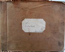 Album De Timbres Poste Fait Main - Timbres Oblitérés Avec Charnière, Voire Collés - 860 Timbres Environ - Tous Pays - Collections (en Albums)