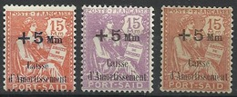 PORT SAID N° 86 à 88 Neufs Avec Charnière - Port Said (1899-1931)