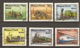 Hongrie - 1979 - Développement Du Chemin De Fer - Expo IVA79 - YT 2655/70 - Petit Lot De 6 Timbres Oblitérés