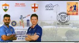 India 2017 England 1st T20 Cricket Match Virat Kohli Eion Morgan Sport Special Cover # 18015