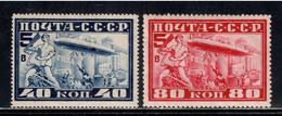 Russia / Soviet Union 1930 Mi# 390 A, 391 B * MH - Graf Zeppelin