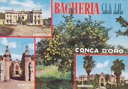 BAGHERIA /  Saluti Con Vedutine _ Viaggiata - Bagheria
