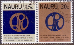 NAURU 1978 SG 191-92 Compl. Set Used Asian Parliamentarians' Union