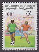 Timbre Neuf ** N° 667(Yvert) Djibouti 1990 - Coupe Du Monde De Football Italia 90