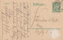 DR Ganzsache KOS Thräna (Kr. Altenb.) 24.9.25