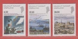 2008** (sans Charn., MNH, Postfrish)  Yv  495/7    Mi  516/8 - Groenland