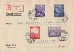 DR R-Brief Mif Minr.804,805,807,809 Berlin 6.1.42 - Briefe U. Dokumente
