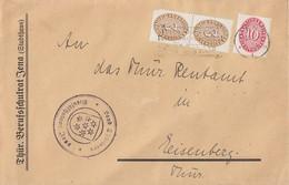 DR Brief Mif Minr.2x 114,117 Jena 10.4.29 - Dienstpost