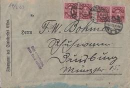 DR Brief Mef Minr.24x D67 Essen 14.2.23 Gel. Nach Duisburg - Dienstpost