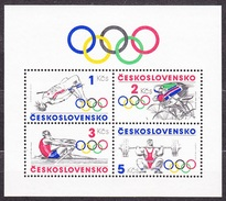 CZECHOSLOVAKIA 1984, Complete Set In Sheet, MNH. Michel Block 60. SPORTS - OLYMPICS IDEA. Good Condition, See The Scans
