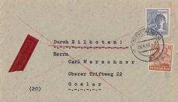 Gemeina. Brief Eilbote Mif Minr.951,957 Northeim 6.4.48 Gel. Nach Goslar - Gemeinschaftsausgaben