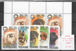 Chien - Suriname N°660 à 664 & BF N°xx 1976 ** - Dogs