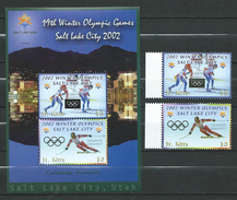 St.Kitts 2002 Winter Olympic Games - Salt Lake City, U.S.A.stamp And S/S.MNH.