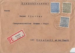 SBZ R-Brief Mif Minr.127,134,135 Grimma 21.1.46 - Sowjetische Zone (SBZ)