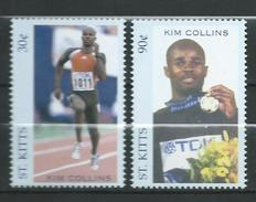 St.Kitts 2002 Kim Collins, Commonwealth Games Gold Medalist.sport.MNH