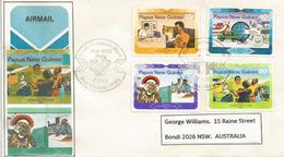 PAPOUASIE.  World Communication Day, Lettre De Port-Moresby, Adressée Australie