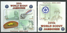 St.Kitts 2002 The 20th World Scout Jamboree, Thailand.Scouting.2 S/S.MNH