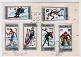 1976 J.O.d´Hiver - INSBRUCK Post Card  BULGARIA / Bulgarie