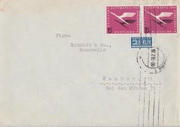Bund Brief Mef Minr.2x 205  27.7.55 - BRD