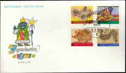 Germany Berlin 1971 / Art / Children Drawings / Youth Stamps / Jugendmarken