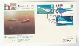 1969 FILTON Bristol GB CONCORDE 002 FIRST FLIGHT COVER By British Aircraft Corporation Aviation Stamps