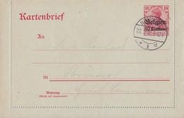 Dt. Besetzung Belgien Ganzsache Minr.K1 Brüssel 22.1.18 - Besetzungen 1914-18