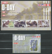 St.Kitts 2004 The 60th Anniversary Of D-Day Landings.Normandy.2 S/S.MNH.