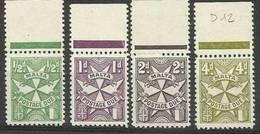 1967 Malta SEGNATASSE  POSTAGE DUE Serie Di 4 Valori (27/30) MNH**