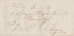 Brief L1 Roth Gelaufen Nach Ellingen Am 19.10.1824 Inhalt - Deutschland